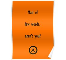 Man of few words Poster
