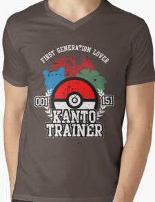 1st Generation Trainer (Dark Tee) Mens V-Neck T-Shirt