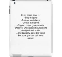 Gamer Pride - Simple Version - Dark on Light iPad Case/Skin