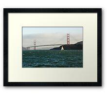 Sailing Under the Golden Gate Bridge  Framed Print