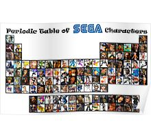 Periodic Table of Sega Characters Poster