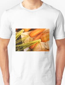 Home grown carrots from a small Organic vegetable patch  Unisex T-Shirt