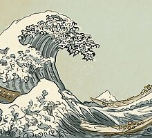 handdrawn great wave by chicamarsh1