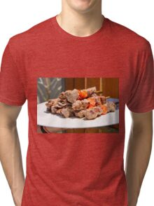 Grilled red meat skewers  Tri-blend T-Shirt
