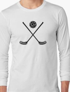 Crossed floorball sticks Long Sleeve T-Shirt