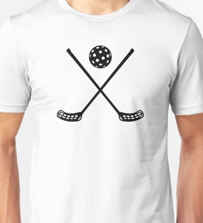Crossed floorball sticks Unisex T-Shirt