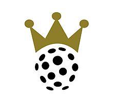 Floorball champion crown Photographic Print