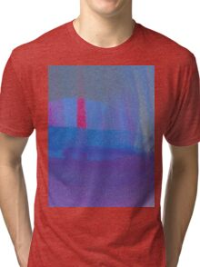 Red Candle Abstract Tri-blend T-Shirt
