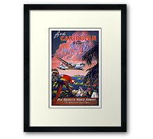 Fly to the Caribbean! Framed Print