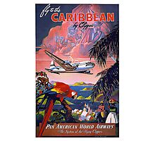 Fly to the Caribbean! Photographic Print
