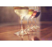 Wine Glasses Photographic Print