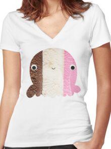 Neapolitan Women's Fitted V-Neck T-Shirt