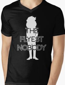 THE FLYEST NOBODY Silhouette 2 Mens V-Neck T-Shirt