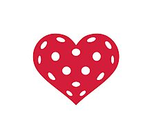 Floorball red heart Photographic Print