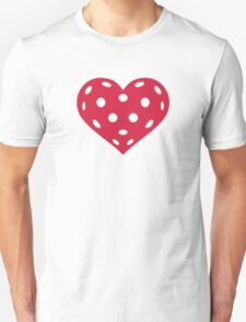 Floorball red heart Unisex T-Shirt