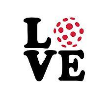 Floorball love ball Photographic Print