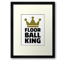 Floorball king champion Framed Print