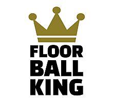Floorball king champion Photographic Print