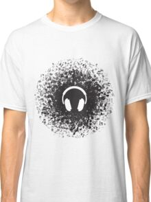 Headphones and Music Notes Classic T-Shirt