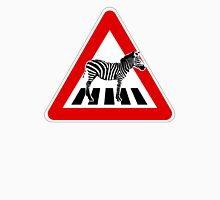 Attention Zebra on crosswalk Unisex T-Shirt