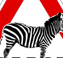 Attention Zebra on crosswalk Sticker