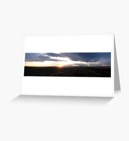 plains sunset Greeting Card