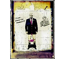 """I can make you famous""- Max Clifford Photographic Print"