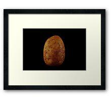 Potato on Black Framed Print