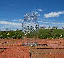 Mason Jar In Spring by Bradley Midkiff
