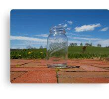 Mason Jar In Spring Canvas Print