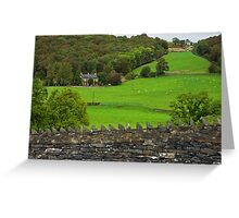 Country Manor, Cumbria, England Greeting Card