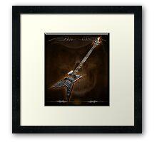 Death Metal Bass Skull Framed Print