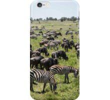 Zebra & Wildebeest Migration, Serengeti iPhone Case/Skin