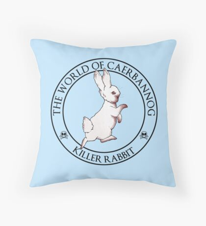 The Tale of the Killer Rabbit Throw Pillow
