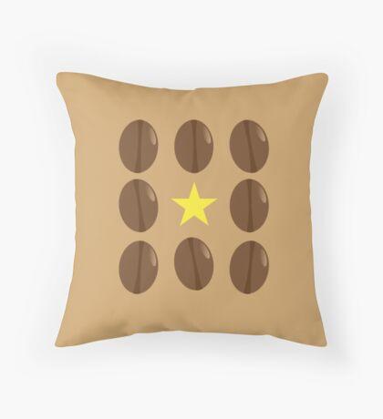 Coffee beans vector design Throw Pillow