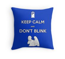 Don't Blink Throw Pillow