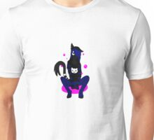 Black Cat Furry Pink Bubbles Unisex T-Shirt