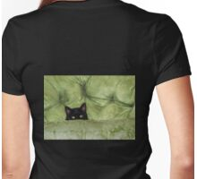 Green-Eyed Girl On Papason Chair Womens Fitted T-Shirt