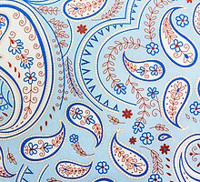 Blue Vintage Funky Texture by MMPhotographyUK