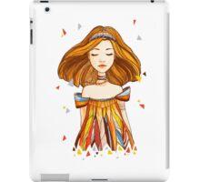 Girl in feather dress iPad Case/Skin