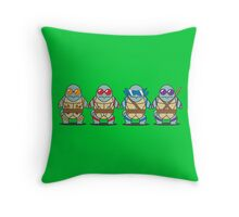 Teenage Mutant Squirtle Squad Throw Pillow