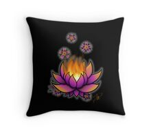 Flaming Lotus Throw Pillow