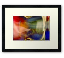 he makes the world go away... Framed Print