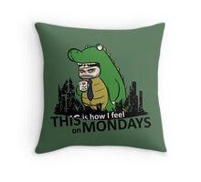 Monday Kaiju Throw Pillow