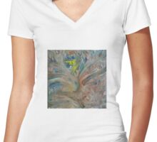 Life Force Women's Fitted V-Neck T-Shirt