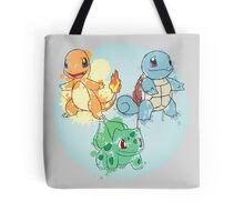 Starter Pokemon Splatter Tote Bag