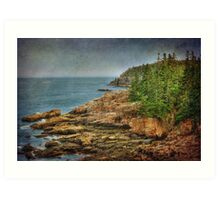 The Cliffs of Acadia Art Print