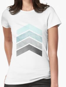 Ice Blue Chevrons Womens Fitted T-Shirt