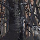 Alsea Falls, methuselah lichen by resonanteye