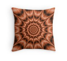 Spiked Exploding Rings in Orange Throw Pillow